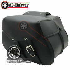 New Leather Saddlebags Fit Harley Davidson Dyna Night Rod Sportster XL883 1200 c