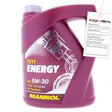 5 Liter MANNOL Energy 5W-30 API SL A3 B3 Motoröl 5W30 4036021503103
