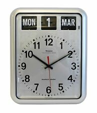 Grayson Digital Silver Easy to Read Alzheimer's Dementia Calendar Clock - G237A^