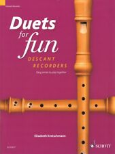 Duets for Fun Easy Pieces to Play Together 2 Descant Recorders New 049046037