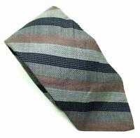 """Calvin Klein Men's Tie Grey Striped Cotton Silk Blend 3"""" Width 58"""" Length"""