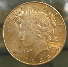 1934-D Silver Peace Dollar Coin Uncirculated Toned