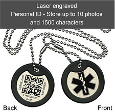 One Engraved Army dog tag - Double sided for Personal ID