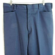 Vintage 70s Western Cowboy Leisure Polyester Pants Mens Slacks 40x31 Blue