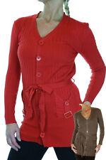Button Front Cardigan Thin Rib Knit 6-14