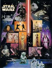 Star Wars 30th Anniversary USPS Stamps Sheet 2007 Yoda Darth Vader C3PO R2-D2