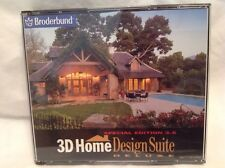 Broderbund 3D Home Design Suite Deluxe Special Edition 3.5 Windows 95/98!  J31