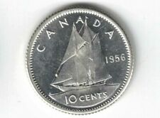 CANADA 1956 10 CENTS DIME QUEEN ELIZABETH II CANADIAN .800 SILVER COIN