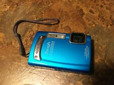 Olympus Tough TG-320 14.0MP Digital Camera - Blue - Used w/ Box and accessories