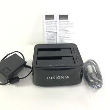 Insignia Dual Hard Drive Docking Station  Model # NS-PCHDEDS19 EUC HG410