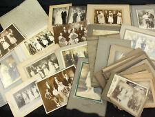 Lot of 36 Antique Wedding Photos - CDV, Cabinet Cards & More! Unique!