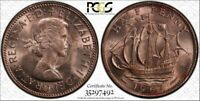 1967 Great Britain 1/2 Penny PCGS MS64 RD (Red) ONLY 5 GRADED HIGHER
