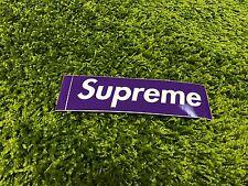 Supreme F/W 2012 Purple Sticker Box Logo