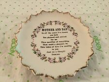 Decorative mother and dad wall hanging plate