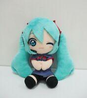 "Hatsune Miku Uniform Vocaloid Taito Prize Plush 7"" Stuffed Toy Doll Japan"