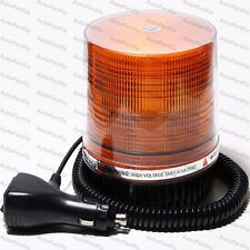12W LED Amber Magnetic Beacon Light Emergency Warning Strobe Yellow Roof Round
