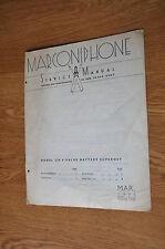 Marconiphone Model 234 4-valve battery superhet radio Genuine service Manual