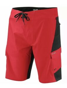 NEW Pelagic FX-90 Teflon Tactical Mens Fishing Boat Shorts Black/Red 36,40