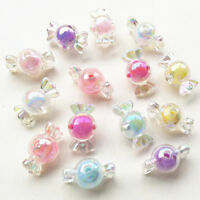7 Colors Shiny AB Color Acrylic Candy Bow Bead Hairband Bracelets DIY