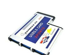 3 Port Hidden Inside USB 3.0 HUB to Express Card ExpressCard 54mm Adapter