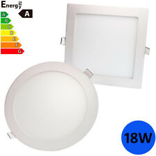 18w LED Round Recessed Lighting Panel Ceiling Down Light Cool White 6000-6500k