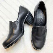 Dansko Women's Black Leather Beth Pumps Shoes Size 38