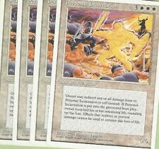 TCG MTG 101 Magic the Gathering 4th Edition personale incarnation PLAYSET (4)