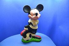 Walt Disney Figur Hartplastik ca. 22,0 cm Micky Maus Fußball Multicomm vergilbt