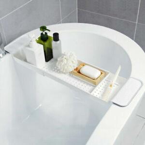 EXTENDABLE BATH TUB RACK BATHROOM SHELF STORAGE CADDY BATH BRIDGE ORGAINSER TIDY