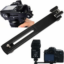 Horizontal Bracket Camera Flash Grip Rail For DSLR DC SLR Light Stand Hot-Shoe