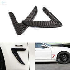 Carbon Fiber Car Side Wing Vent Air Flow Fender Grill Cover for BMW 3 Series F30