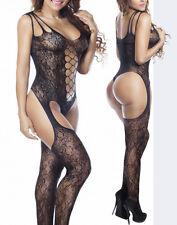 Sexy Babydoll Fishnet Lingerie Underwear BODYSTOCKING SUSPENDER Ladies Catsuit