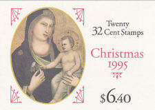 U.S. BOOKLET OF 20 SCOTT#BK232 1995 32ct CHRISTMAS MADONNA MINT P#1 AT FACE