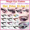 New Temporary Eye Tattoo Transfers&Eyeliner Sticker&Eye shadow Sticker Transfer