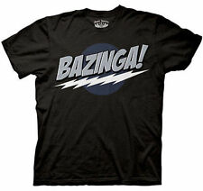 Officially Licensed Big Bang Theory Black Bazinga Tv Show T Shirt Medium