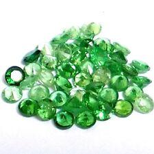NATURAL ROUND GREEN TSAVORITE GARNET GEMSTONES LOOSE 15 pieces - 1.7 x 1.7 mm