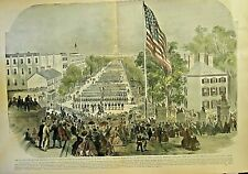 Washington, DC. Civil War, Grand Review Of Troops Vintage 1889 Antique Art Print