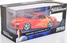 JLS Mazda RX-7 Fast and & Furious orange Film 1:24 Jada NEU