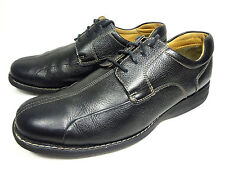 JOHNSTON & MURPHY MENS OXFORD BLACK LEATHER SHOES SIZE 10 M