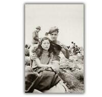 War Photos American soldiers forces & Japanese girl WW2 Glossy 4 x 6 inch G