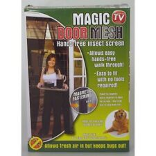 3 X 1 PAIR BLACK DOOR MESH INSECT SCREENS (6 CURTAINS TOTAL)  MAGNETIC FASTENING