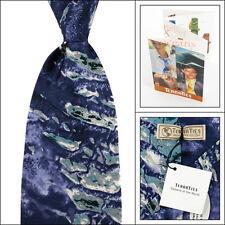 Mens TERRA Purple/Blue Rub Al Khali Saudi Arabia Silk Tie NWT $95 Made in USA