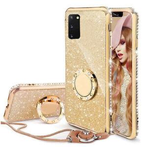Bling Glitzer Schutzhülle Samsung S20FE/Plus/S10 Case FULL TPU Tasche Handykette