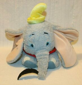 Authentic Walt Disney World Dumbo w/Feather Plush 16 inches, Pre-owned