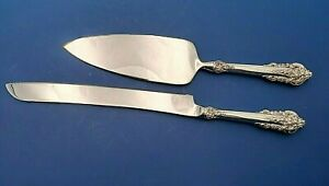 Grande Baroque by Wallace Sterling Silver Handle Cake Set Custom Made
