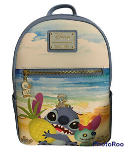 Loungefly Lilo and Stitch Ducklings Mini Backpack Bag Scrump Disney New Beach