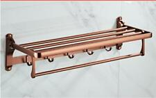 Bathroom Accessory Rose Gold Towel Rack Towel Bar Shower Caddy Paper Box New
