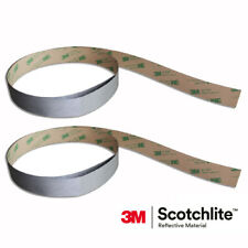 Salzmann 3M Scotchlite Reflective Tape - Bags Jackets (Self Adhesive 2x 50mm*1m)