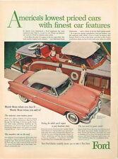Car Ford Crestline Victoria 1950s paper ad 10¼ x 14 inch Tavern Trove