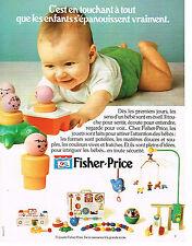 PUBLICITE  1978   FISHER-PRICE  jeux jouets